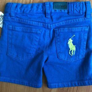 Ralph Lauren Jean shorts, size 2/2T